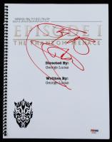 "Ray Park Signed ""Star Wars: Episode I – The Phantom Menace"" Script Inscribed ""Sith Rule!"" (PSA Hologram) at PristineAuction.com"
