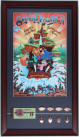 "Disneyland ""Splash Mountain"" 15x26 Custom Framed Print Display with Vintage Ticket Booklet & Complete Set of (8) Splash Mountain Souvenir Coins at PristineAuction.com"