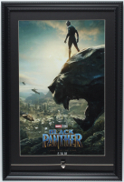 """Black Panther"" 15x22 Custom Framed Print Display with Official Black Panther Lapel Pin at PristineAuction.com"