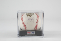 Roger Clemens Signed 2000 World Series Baseball with Display Case (PSA COA) at PristineAuction.com