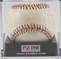 1992 All-Star Game Baseball Team-Signed by (25) with Mike Schmidt, Tony Gwynn, Ozzie Smith, Craig Biggio with Display Case (PSA LOA) at PristineAuction.com
