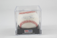 Willie Mays Signed ONL Baseball with Display Case (PSA COA) at PristineAuction.com