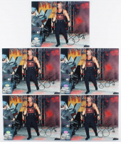 """Lot of (5) Lex Luger Signed 8x10 Photos Inscribed """"Wolfpac 98"""" (Hollywood Collectibles Hologram) at PristineAuction.com"""