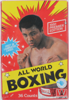 1991 All World Boxing Premier Edition Wax Box with 36 Packs at PristineAuction.com