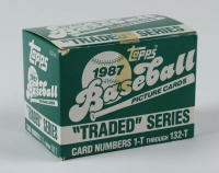 1987 Topps Traded Series Complete Set of (132) Baseball Cards at PristineAuction.com