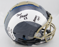 "Cam Akers Signed Full-Size Authentic On-Field Hydro-Dipped F7 Helmet Inscribed ""Whose House Rams House"" & ""Horns Up!"" (Beckett COA)(See Description) at PristineAuction.com"