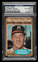 Warren Spahn Signed 1962 Topps #399 All-Star (PSA Encapsulated) at PristineAuction.com