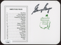 """Gary Player Signed """"Masters"""" Augusta National Golf Club Score Card (JSA COA) at PristineAuction.com"""