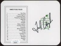 """Fred Couples Signed """"Masters"""" Augusta National Golf Club Score Card (JSA COA) at PristineAuction.com"""