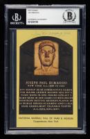 Joe DiMaggio 1997-18 Hall of Fame Gold Plaque Postcard #75 (BGS Encapsulated) at PristineAuction.com
