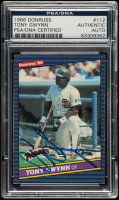 Tony Gwynn Signed 1986 Donruss #112 (PSA Encapsulated) at PristineAuction.com