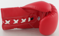 """Manny Pacquiao Signed Cleto Reyes Boxing Glove Inscribed """"Pacman"""" (Beckett COA) at PristineAuction.com"""