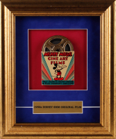 """Walt Disney's 1950 """"Mickey Mouse"""" 11x13 Custom Framed Display with Vintage 8mm Film at PristineAuction.com"""