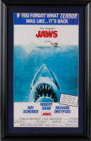"""Jaws"" 14.5x23 Custom Framed Movie Poster Display at PristineAuction.com"
