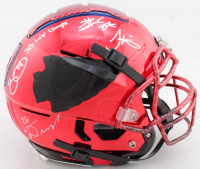 Full-Size Authentic On-Field Chrome F7 Helmet Team-Signed By (4) With Tyreek Hill, Travis Kelce, Damien Williams & Sammy Watkins (Beckett COA) (See Description) at PristineAuction.com