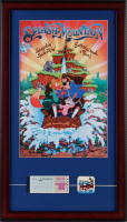 "Walt Disney World ""Splash Mountain"" 15x26 Custom Framed Print Display with Vintage Ticket Booklet & Splash Mountain Lapel Pin at PristineAuction.com"