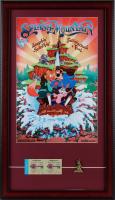 "Disneyland ""Splash Mountain"" 15x26 Custom Framed Poster Display with Vintage Ticket Booklet & Vintage Splash Mountain Pin at PristineAuction.com"