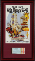 Walt Disney World 15x26 Custom Framed Print Display with Vintage Magic Kingdom Ticket at PristineAuction.com
