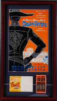 "Disneyland Frontierland ""Casa De Fritos"" Restaurant 15x26 Custom Framed Print Display with Vintage Photo Portfolio & Souvenir Fork Set at PristineAuction.com"