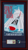 "Disneyland ""Space Mountain"" 15x26 Custom Framed Print Display with Vintage Ticket Booklet & Space Mountain Pin at PristineAuction.com"