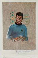"DeForest Kelley Signed ""Star Trek"" 12.5x19 Print Inscribed ""1982"" (Beckett COA) (See Description) at PristineAuction.com"