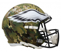 Miles Sanders Signed Eagles Full-Size Camo Alternate Speed Helmet (JSA COA) at PristineAuction.com