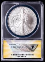 Mint Error - 2004 American Silver Eagle $1 One Dollar Coin, Struck Thru Plastic Fiber (ANACS MS68) at PristineAuction.com