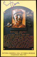 Ernie Banks Signed Hall of Fame Plaque Postcard (JSA COA) (See Description) at PristineAuction.com