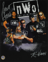 Kevin Nash & Scott Hall Signed WWE 11x14 Photo (Pro Player Hologram) at PristineAuction.com