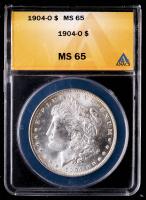 1904-O Morgan Silver Dollar (ANACS MS65) at PristineAuction.com