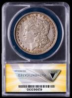 Mint Error - 1896 Morgan Silver Dollar, Struck Thru Fragment, VAM-1 (ANACS AU53) at PristineAuction.com