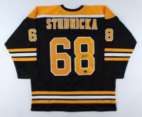 Jack Studnicka Signed Jersey (Studnicka COA) (See Description) at PristineAuction.com