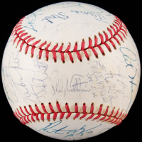 1988 Rangers OAL Baseball Team-Signed by (33) with Bobby Valentine, Davey Lopes, Ruben Sierra, Jose Guzman (JSA ALOA) at PristineAuction.com