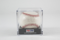 "Whitey Ford Signed OML Baseball Inscribed ""CY '61"" with Display Case (PSA COA) (See Description) at PristineAuction.com"
