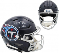 "Chris Johnson Signed Titans Full-Size Authentic On-Field SpeedFlex Helmet Inscribed ""CJ2K"" (Beckett COA) at PristineAuction.com"