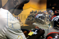 "Phillip Lindsay & Terrell Davis Signed Broncos Full-Size Authentic On-Field Speed Helmet Inscribed ""Rocky Mountain Life"" & ""Bronco 4 Life"" (Radtke COA & Davis Hologram) at PristineAuction.com"