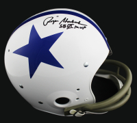 "Roger Staubach Signed Cowboys Full-Size Throwback Suspension Helmet Inscribed ""SB VI MVP"" (JSA COA) at PristineAuction.com"