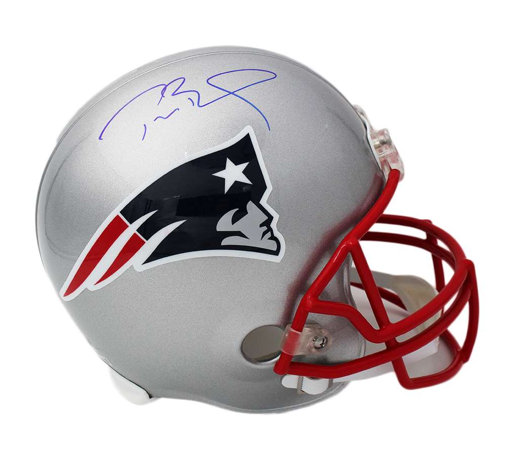 Tom Brady Signed Patriots Full-Size Helmet (TriStar Hologram) at PristineAuction.com
