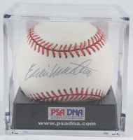 Eddie Mathews Signed ONL Baseball with Display Case (PSA COA) (See Description) at PristineAuction.com