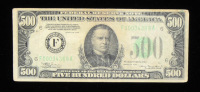 1934 $500 Five-Hundred Dollar Federal Reserve Note at PristineAuction.com