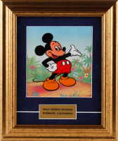 "1987 Walt Disney's ""Mickey Mouse"" 11x13 Custom Framed Animation Serigraph Cel at PristineAuction.com"