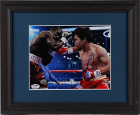 Manny Pacquiao Signed 13.5x16.5 Custom Framed Print Display (PSA COA) at PristineAuction.com