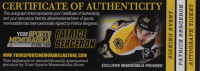 "Patrice Bergeron Signed Bruins Logo Hockey Puck Inscribed ""Captain"" (Bergeron COA) at PristineAuction.com"