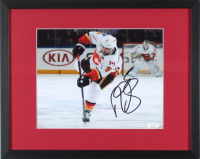 Mark Giordano Signed Flames 15x12 Custom Framed Photo Display (JSA COA) at PristineAuction.com