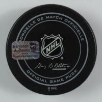 Patrice Bergeron Signed Bruins 90th Season Logo Hockey Puck (Bergeron COA) at PristineAuction.com