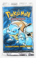 Pokemon Unlimited Base Set Blastoise Booster Pack with (11) Cards at PristineAuction.com