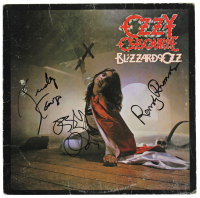 "Ozzy Osbourne, Randy Rhoads & Rudy Sarzo Signed ""Blizzard Of Oz"" Vinyl Record Album Cover (JSA LOA) at PristineAuction.com"
