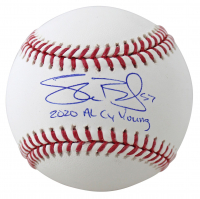 """Shane Bieber Signed OML Baseball Inscribed """"2020 AL CY Young"""" (Beckett COA) at PristineAuction.com"""