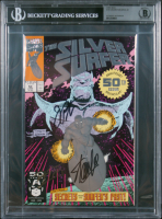 "Stan Lee, Jim Starlin, & Ron Lim Signed 1991 ""Silver Surfer"" #50 Marvel Comic Book (BGS Encapsulated) at PristineAuction.com"