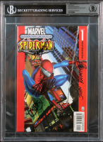 "Stan Lee, John Romita, Mark Bagley & Brian Michael Signed 1961 ""Spider-Man"" #1 Marvel Comic Book (BGS Encapsulated) at PristineAuction.com"